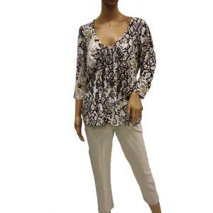 Adelina Damen Longshirt 3/4 Arm 81384 - Bis Größe 46