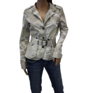 Fresh Made Damen Jacke mit G?rtel D7217N43008A