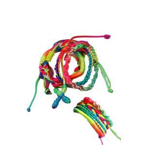 Sublevel Damen Flechtarmband sortiert Neonfarben - 29002 -